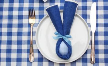 Pliage de serviettes oreilles de lapin