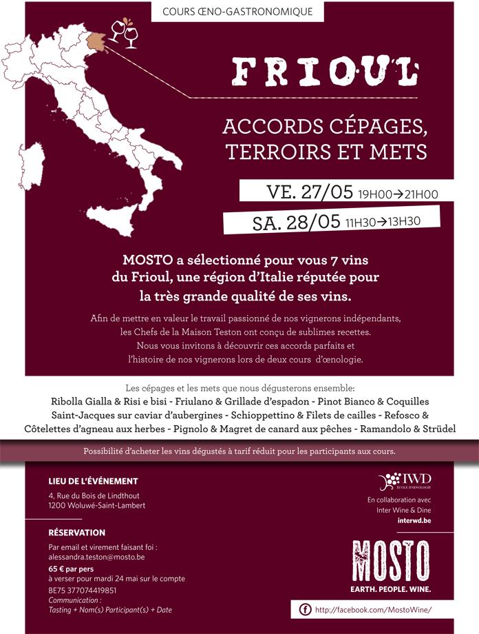 Mosto | Cours œno-gastronomiques