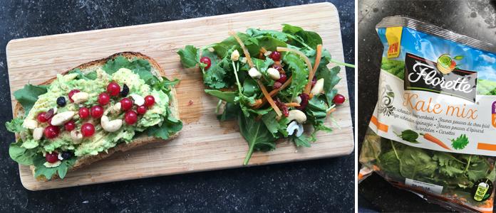 Nouveau au rayon frais les jeunes pousses de Kale chez Fleurette