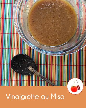 Vinaigrette au Miso pour parfumer vos légumes