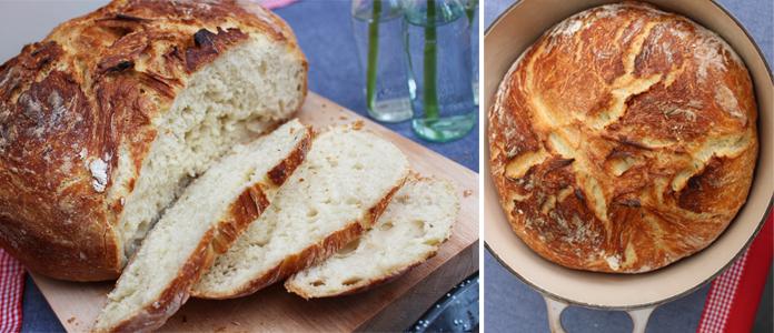pain en cocotte sans p trissage la recette inratable. Black Bedroom Furniture Sets. Home Design Ideas