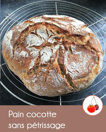 Pain en cocotte sans pétrissage
