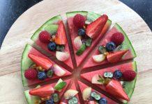 Pizza pastèque aux fruits