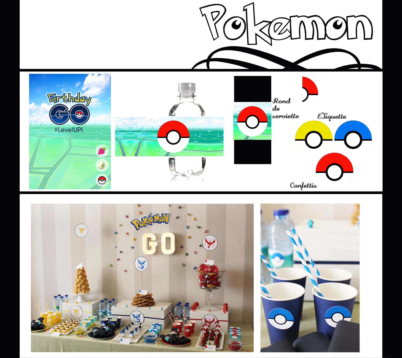 Célèbre Anniversaire | Pokémon Go | Imprimable gratuit - Tomate-Cerise EF99