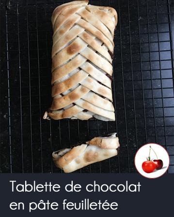 Tablette de chocolat en pâte feuilletée