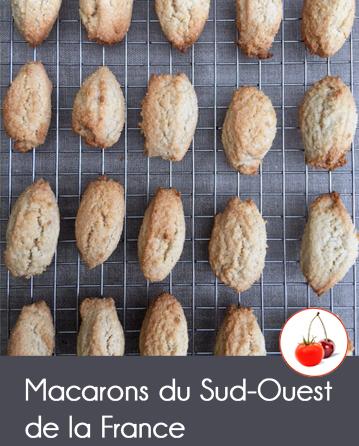Macarons du Sud ouest de la France comme à Saint Jean de Luz