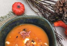 Velouté de poivron rouge et butternut