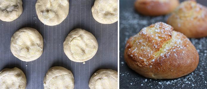 Pão de Deus, Pain de Dieu, des petits pains au lait portugais chapeautés de noix de coco