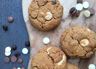 Cookies au trio de pépites de chocolat, noir, lait et blanc