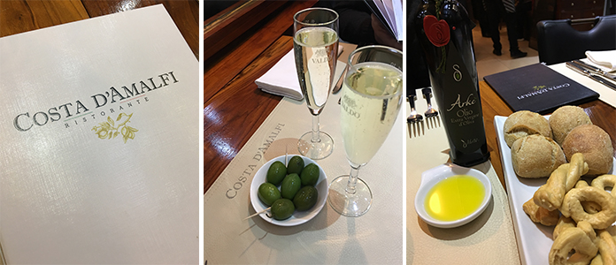 Costa d Amalfi | Restaurant italien dans le quartier européen à Bruxelles
