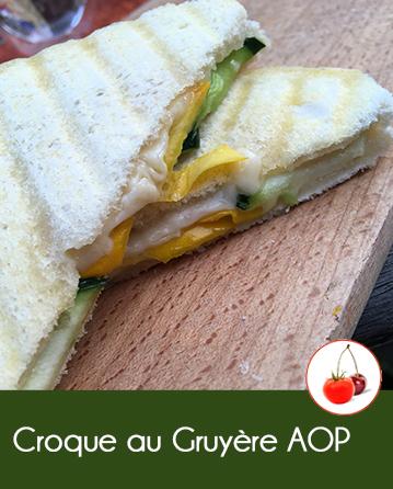 Croque au fromage Gruyère AOP et courgettes