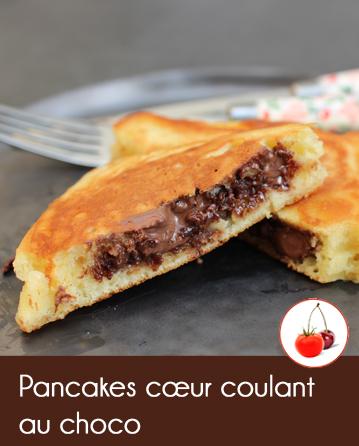 Pancakes au nutella - coeur coulant au choco