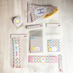 Kit de décoration de table 'Pâques à pois'