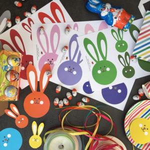 Bricolage de Pâques Tête de lapin