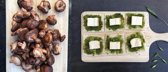 Toast aux champignons de Bruxelles