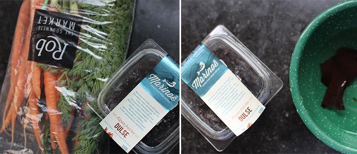 Carottes aux saveurs asiatique et algues rouges dulse