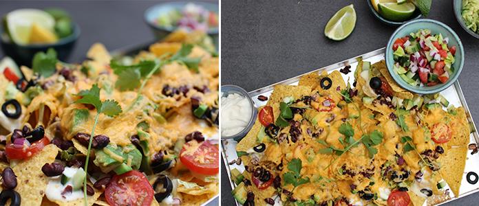 Nachos aux légumes et cheddar