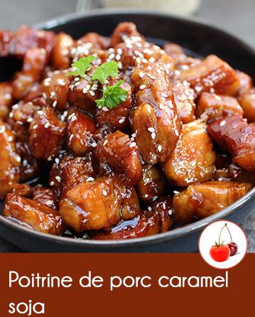 Poitrine de porc caramel soja