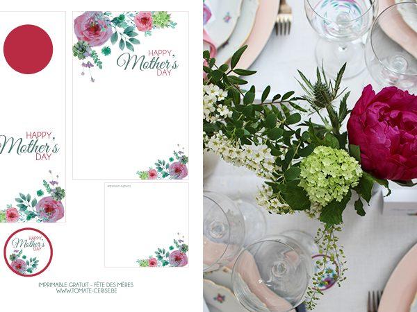Fêtes des mères   Une jolie table et une idée menu avec association vin