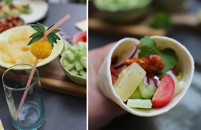tacos au poulet sauce barbecue et ananas une recette avec des fruits en conserve tomate. Black Bedroom Furniture Sets. Home Design Ideas
