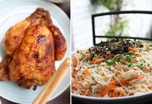 Vermicelles façon asiatique | Que faire avec les restes d'un poulet rôti ?