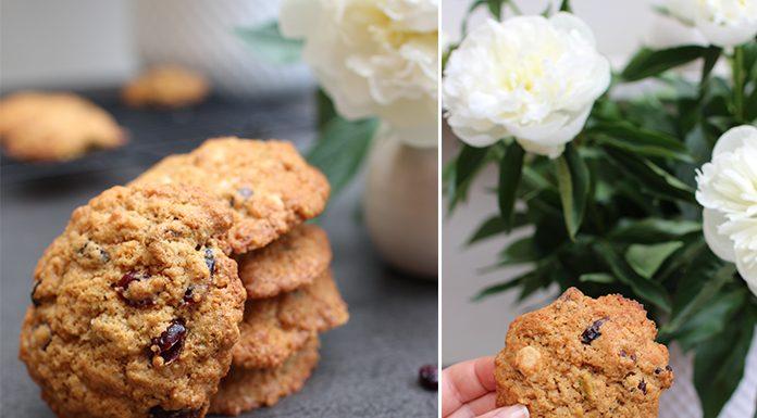 Cookies aux cranberries, pistaches et chocolat blanc