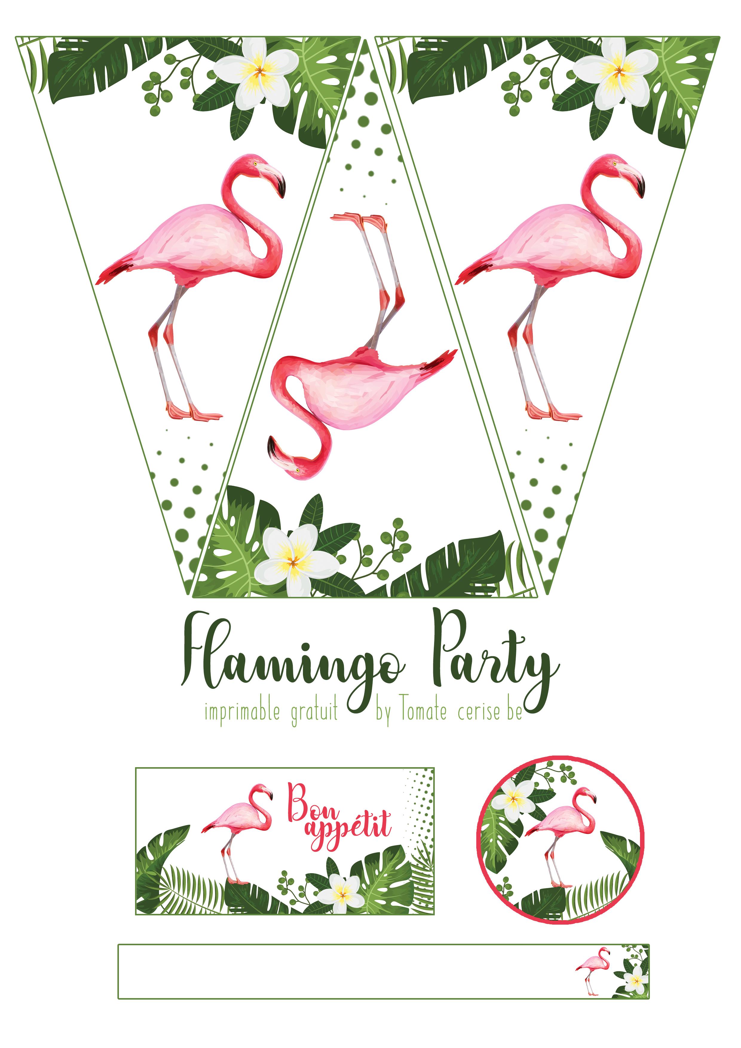 Flamingo Party Imprimable Gratuit La Boutique Tomate Cerise Be