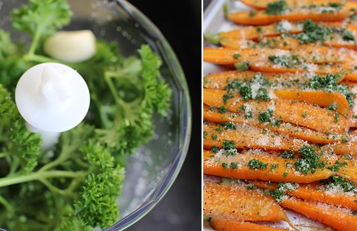 Carbonnara aux carottes grillées