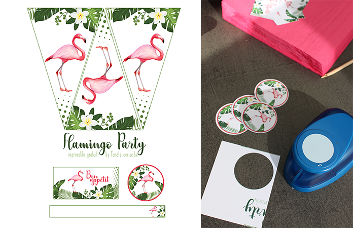 Flamingo Party   Une décoration de table imprimable gratuitement en collaboration avec Crodino