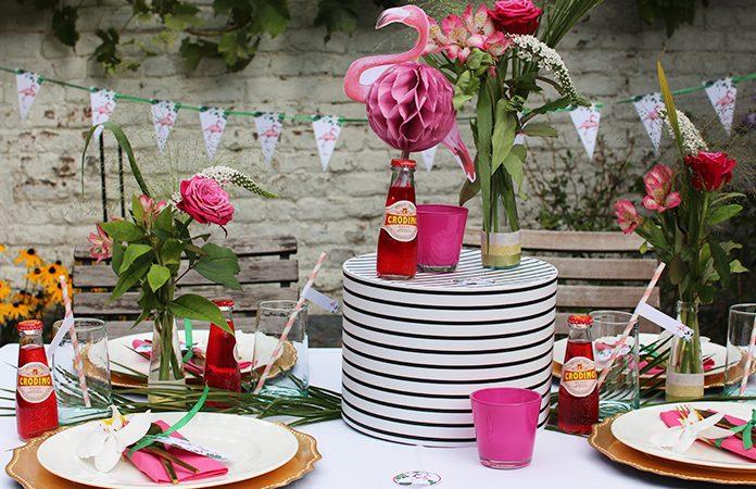 Flamingo Party | Une décoration de table imprimable gratuitement en collaboration avec Crodino