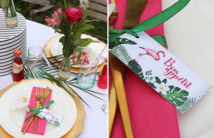 Flamingo Party - Décoration imprimable gratuitement
