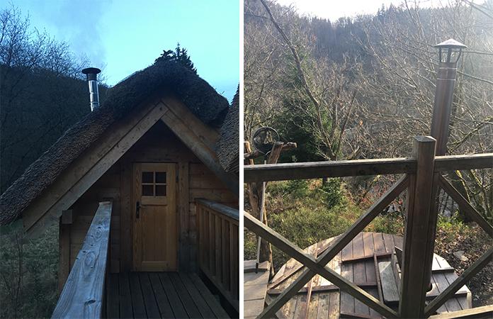 rensiwez une nuit dans une cabane au milieu des bois et d couverte de la tofaille. Black Bedroom Furniture Sets. Home Design Ideas
