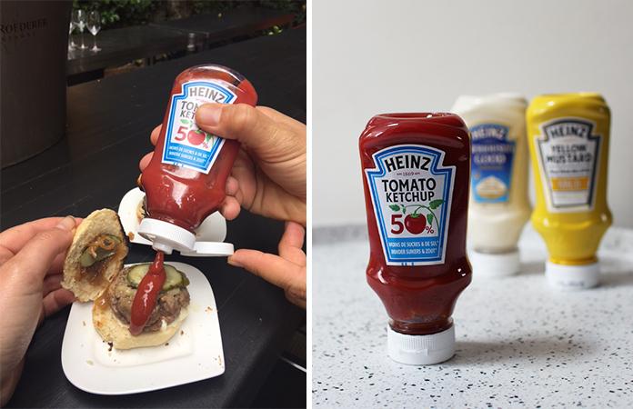 Ketchup 50 % de sucre et de sel en moins