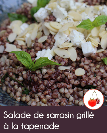 Salade de sarrasin grillé à la tapenade et bœuf irlandais grillé