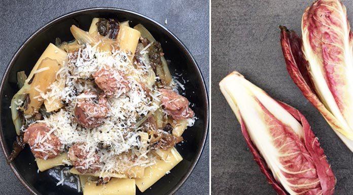 La recette de pâte à la saucisse de toscane et trévise