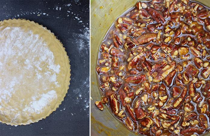 Tarte aux noix de pécan et sirop d'érable