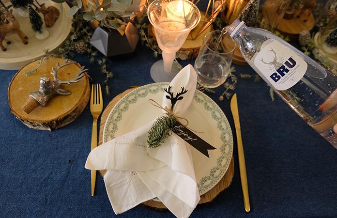 Une décoration de table autour du Cerf
