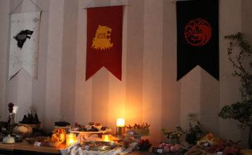 Games of Thrones   Une décoration de table atour de 3 maisons Stark, Lannister et Targaryen