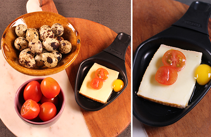 oeuf de caille tomate