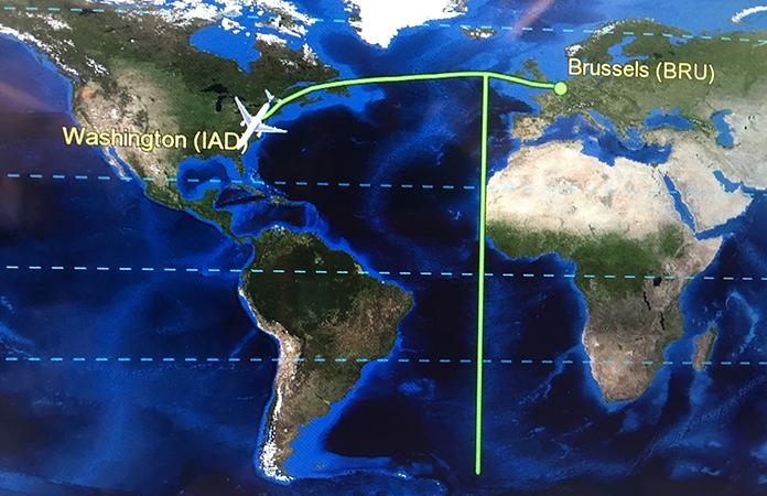 Bruxelles Washington combien d'heure de vol