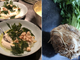 Purée de céleri rave au parmesan et crumble de noisettes | Une recette végétarienne