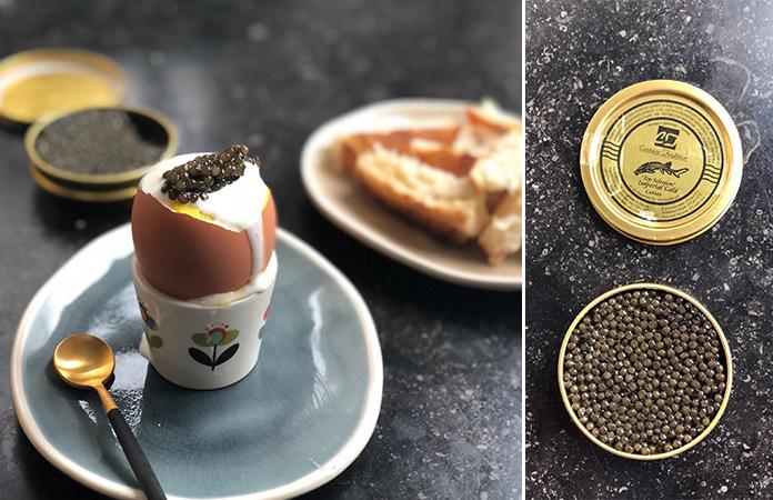 Œufs à la coque au CaviarŒufs à la coque au Caviar