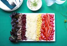 La salade noire, jaune, rouge !