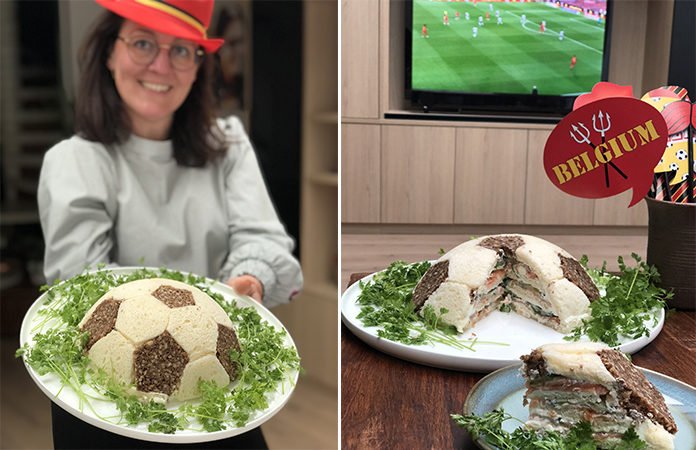 Sandwich cake ballon de foot