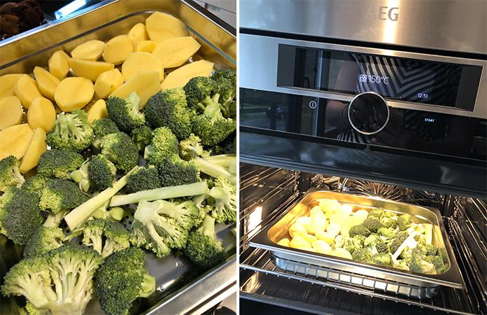 Four combiné Vapeur SteamPro d'AEG cuisson des légumes