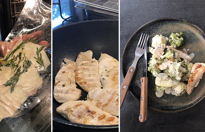 filet de poulet sous-vide vapeur