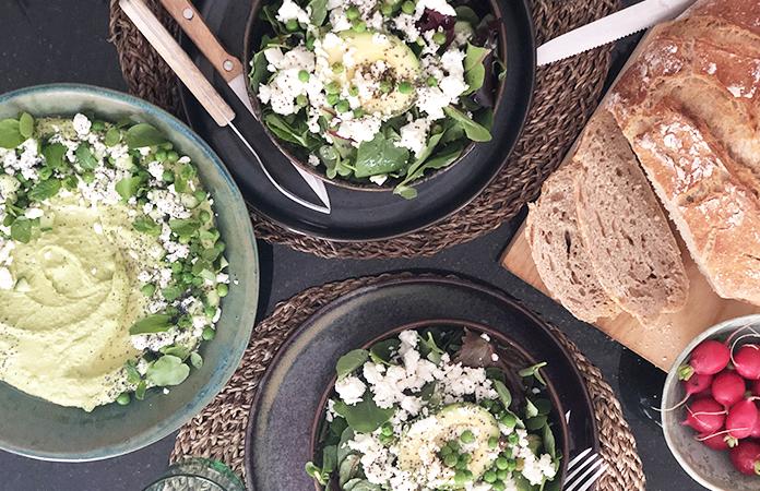 Houmous de petits pois | Une recette végétarienne