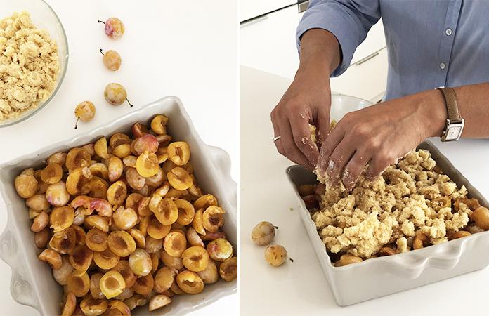 Crumble aux pommes et mirabelles | Une recette lorraine de mon amie Laurence