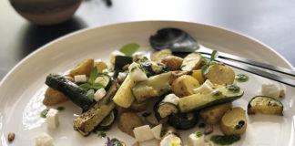 Salade de pomme de terre, courgettes et mozzarella