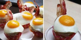 Dimanche matin, brunch avec un couple d'amis… Pour l'occasion, l'envie de réaliser des Cupcakes Bacon Cheddar, surmontés d'un glaçage d'houmous d'haricots blancs, décorés de lard au sirop d'érable et d'un œuf sur le plat.